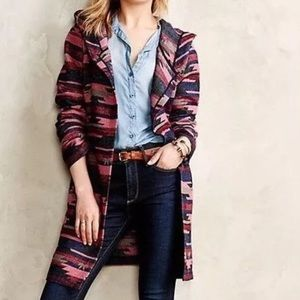 Anthropologie Tabitha Leona Aztec Wrap Coat Jacket